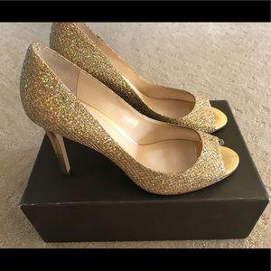 Enzo Angolini Gold Glitter Shoes